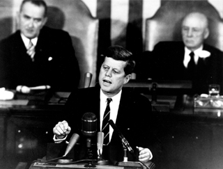 President Kennedy speech to congress.