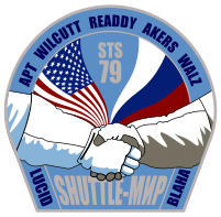 sts-79 mission patch